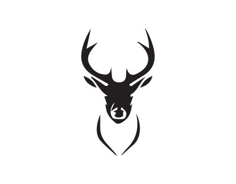 DEER HEAD WITH ANTLERS DECAL - cartattz1.myshopify.com