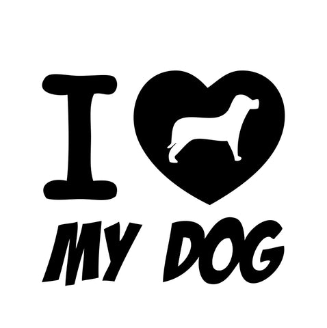 I Love My Dog Sticker - cartattz1.myshopify.com