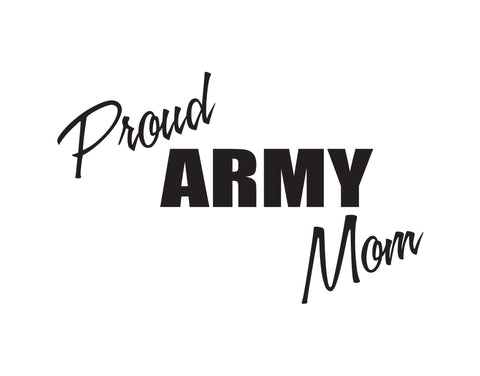 Proud Army Mom Sticker - cartattz1.myshopify.com