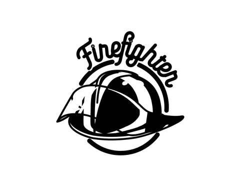 Firefighter Helmet Decal 1 - cartattz1.myshopify.com