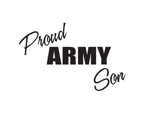 Proud Army Son Sticker - cartattz1.myshopify.com