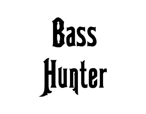 Bass Hunter Sticker - cartattz1.myshopify.com