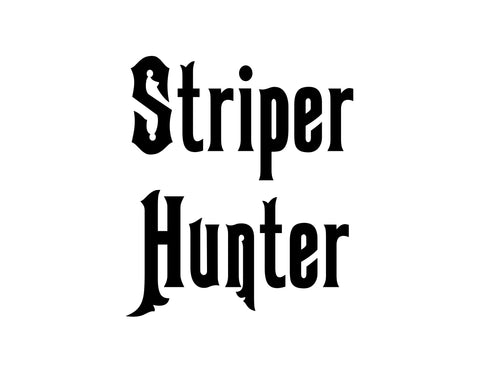 Striper Hunter Sticker