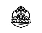 Fireman Firefighter Decal - cartattz1.myshopify.com