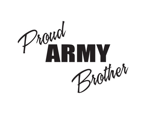 Proud Army Brother Sticker - cartattz1.myshopify.com