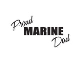 Proud Marine Dad Sticker - cartattz1.myshopify.com