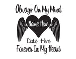In Memory of Decal Forever in my Heart - cartattz1.myshopify.com