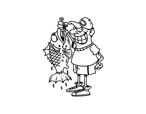 Fisherman Sticker 3