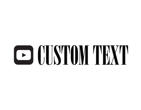YouTube Sticker Bodini MT Font - cartattz1.myshopify.com