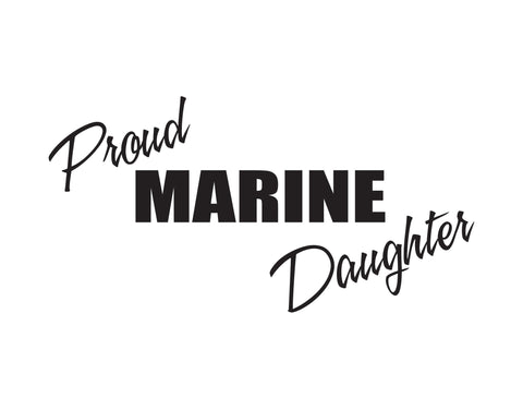 Proud Marine Daughter Sticker - cartattz1.myshopify.com