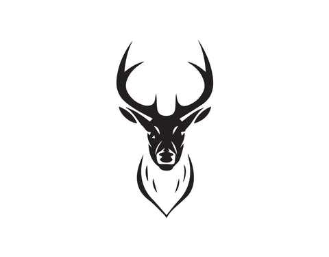DEER HEAD AND ANTLERS DECAL - cartattz1.myshopify.com