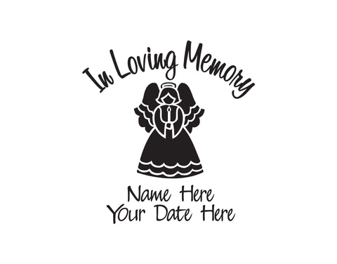 In Loving Memory Decal with Angel - cartattz1.myshopify.com