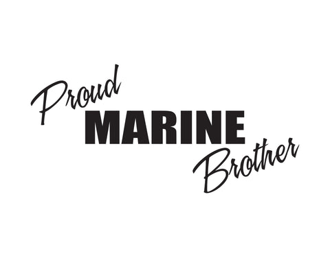 Proud Marine Brother Sticker - cartattz1.myshopify.com