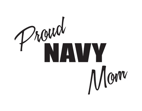 Proud navy Mom Sticker - cartattz1.myshopify.com