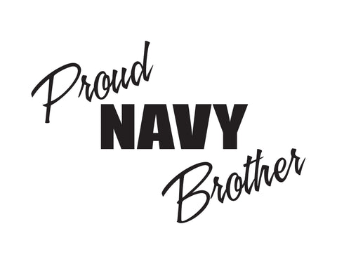 Proud Navy Brother Sticker - cartattz1.myshopify.com