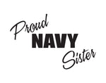 Proud Navy Sister Sticker - cartattz1.myshopify.com