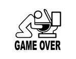 Game Over Sticker - cartattz1.myshopify.com
