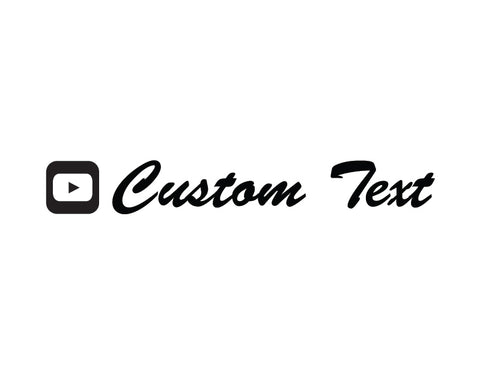 YouTube Sticker Brush Script Font - cartattz1.myshopify.com