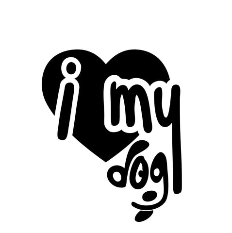 I Love My Dog Heart Sticker - cartattz1.myshopify.com