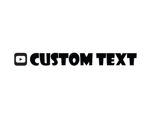 YouTube Sticker Showcard Gothic Font - cartattz1.myshopify.com