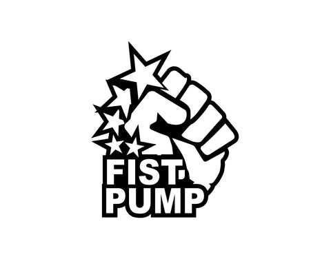 Fist Pump Sticker - cartattz1.myshopify.com