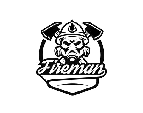 Fireman Decal With Air Mask And Script Text - cartattz1.myshopify.com