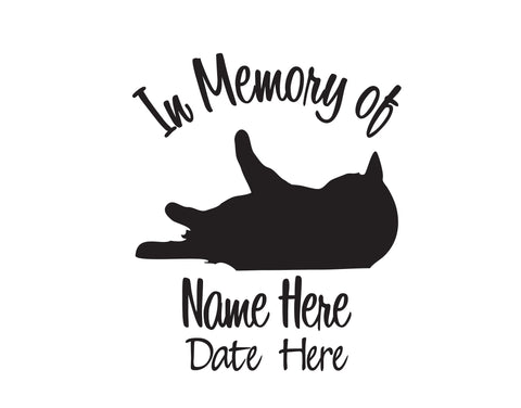 In Memory of Cat Decal - cartattz1.myshopify.com