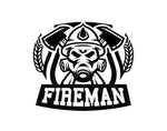 Fireman Emblem Firefighter Decal - cartattz1.myshopify.com
