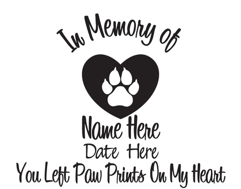 In Memory of Cat Decal with Heart - cartattz1.myshopify.com