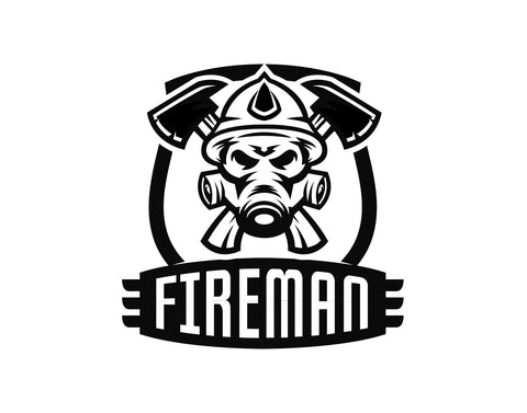 Fireman Badge Firefighter Sticker - cartattz1.myshopify.com
