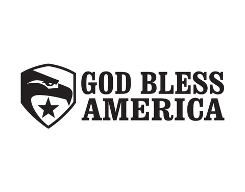 God Bless America Sticker - cartattz1.myshopify.com
