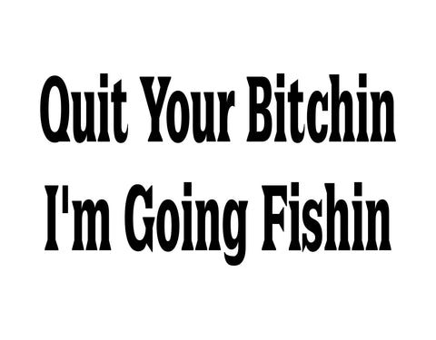 I'm Going Fishing Sticker 2 - cartattz1.myshopify.com