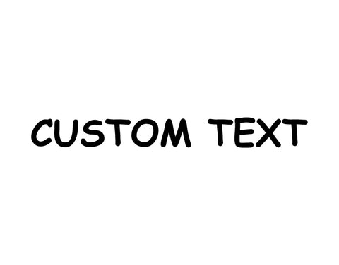 Windshield Lettering Sticker Comic Sans Font