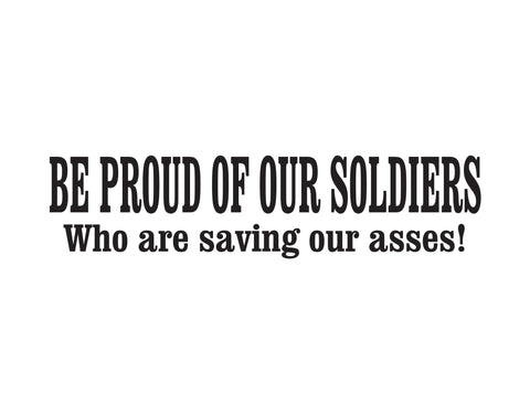 Proud Of Our Soldiers Sticker - cartattz1.myshopify.com