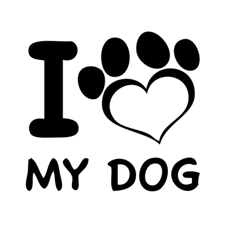 I Love My Dog paw Sticker 4 - cartattz1.myshopify.com