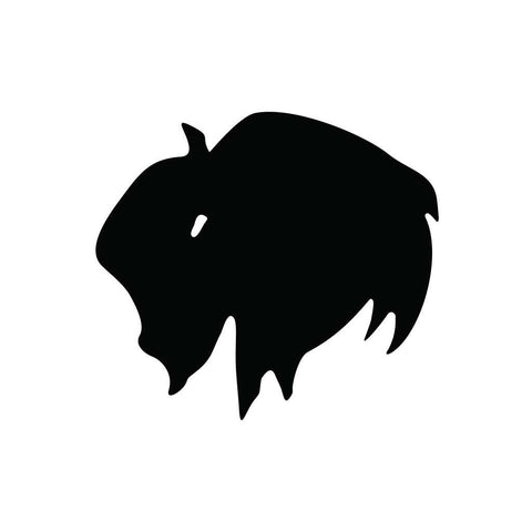 Bison Head Sticker 1 - cartattz1.myshopify.com