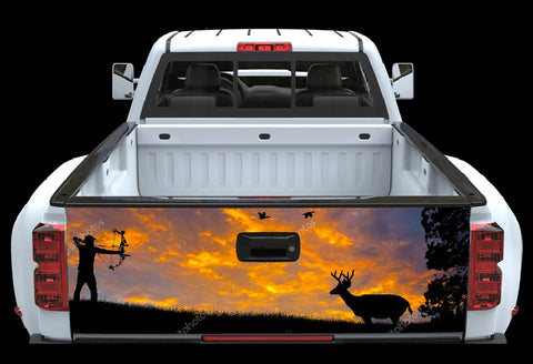 Bow Deer Hunter Tailgate Wrap