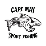 Cape May Sport Fishing Angry  Fish Sticker - cartattz1.myshopify.com