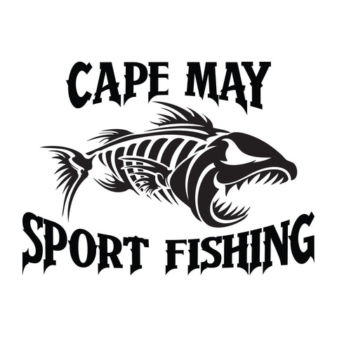 Cape May Sport Fishing Bone Fish Sticker 1 - cartattz1.myshopify.com