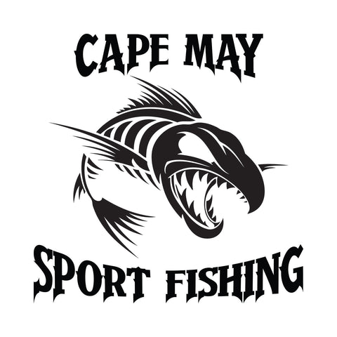 Cape May Sport Fishing Bone Fish Sticker 2 - cartattz1.myshopify.com