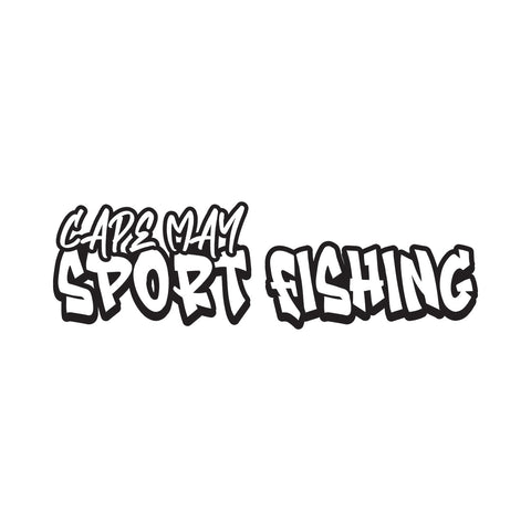 Cape May Sport Fishing Graffiti Logo Sticker - cartattz1.myshopify.com