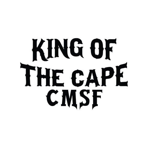 Cape May Sport Fishing King of the Cape Text Sticker - cartattz1.myshopify.com
