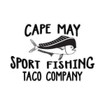 Cape May Sport Fishing Taco Company Mahi Fish Sticker - cartattz1.myshopify.com