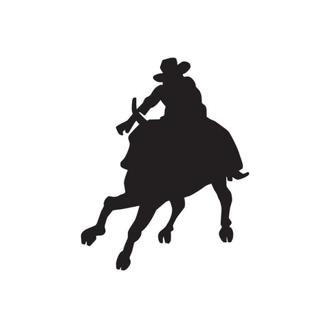 Cowboy And Horse Sticker 13 - cartattz1.myshopify.com