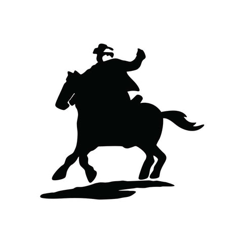 Cowboy And Horse Sticker 4 - cartattz1.myshopify.com