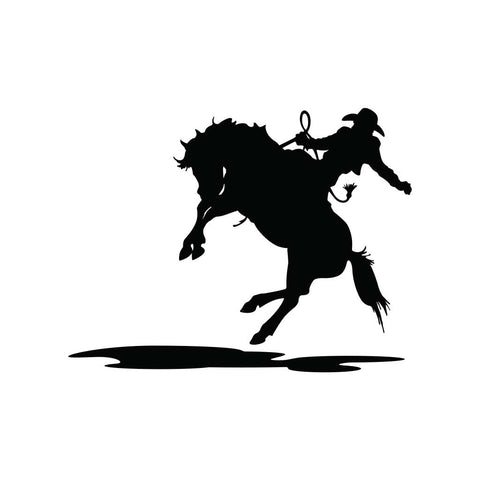 Cowboy And Horse Sticker 6 - cartattz1.myshopify.com