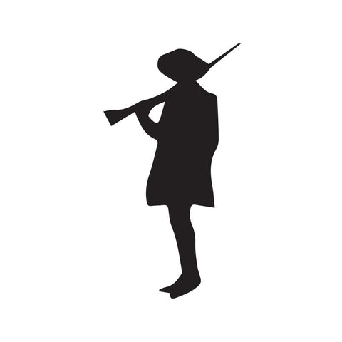 Cowboy Holding Rifle Silhouette Decal