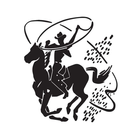 Cowboy Riding Horse Decal - cartattz1.myshopify.com