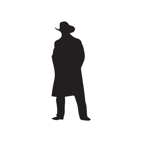 Cowboy Silhouette Decal