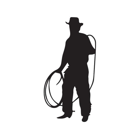 Cowboy With Rope Decal - cartattz1.myshopify.com